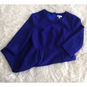 J.CREW PETITE royal blue wool 3/4 sleeve shift